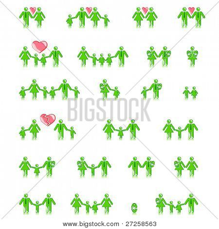 family concept icons vector set