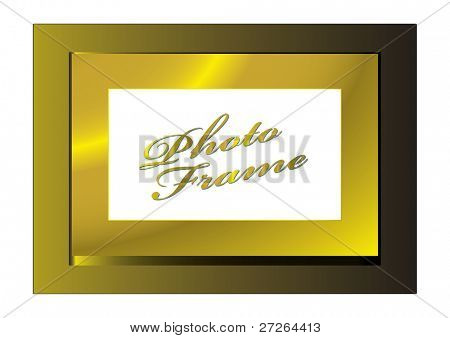 Gold metal frame with space for your own photograph