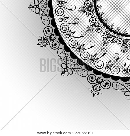 illustration of circular lace on netty background
