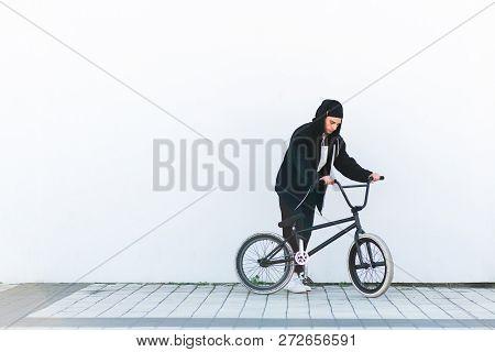 Portrait Of A Cyclist Bmx