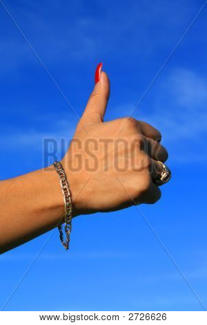 Thumb Up Sign Close Up