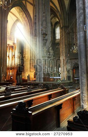Divine light in Saint Stephen Cathedral, Wien