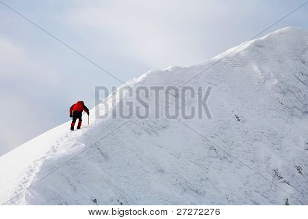 Alpinist towards succes