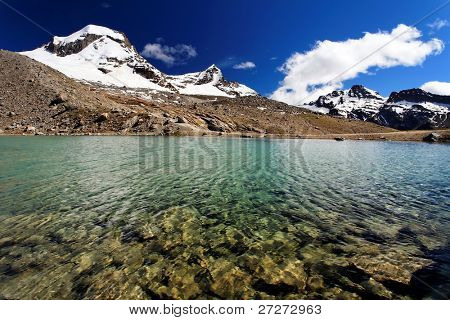 Alpine lake in Gran Paradiso National Park, Italy