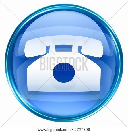 Phone Icon Blue
