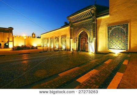 Moulay Ismail Mausoleum, Meknes, Morocco, Africa