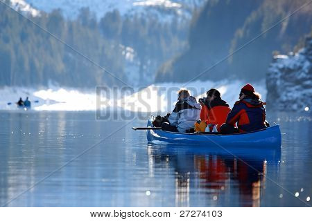 Winter canoeing