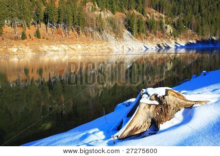 Draganu lake, Occidental Carpathians, Romania