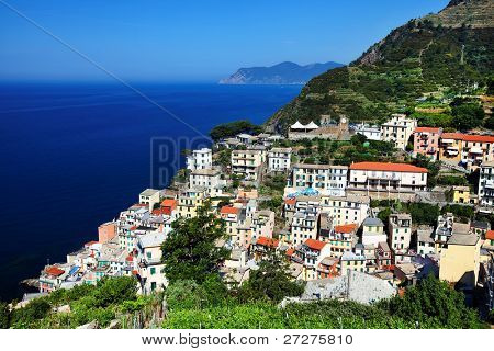 Riomaggiore Village on the Ligurian Coast, Cinque Terre, Italy