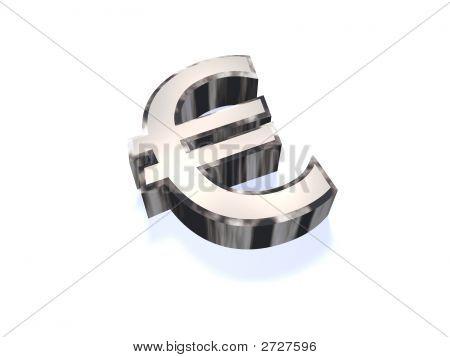 Chrome Euro Sign
