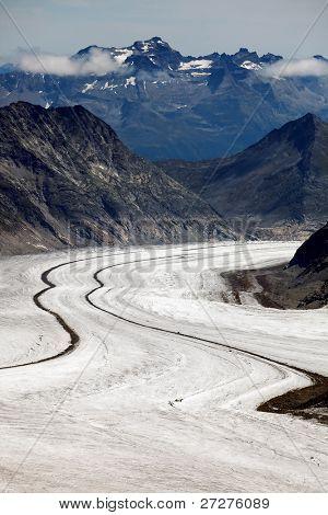 Aletsch Glacier, Berner Oberland, Switzerland