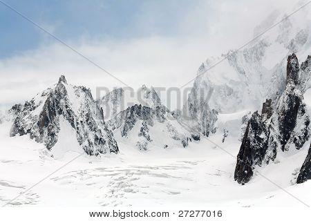 Mer de Glace Glacier, Haute Savoie, France