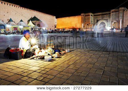 Story Teller in Meknes, Morocco, Africa