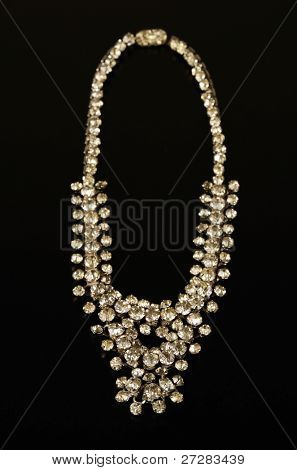 A necklace with diamonds