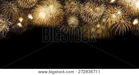 New Years Eve Fireworks Gold