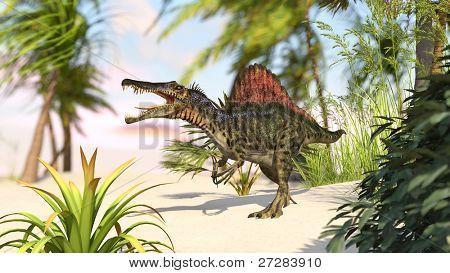 spinosaurus in jungle