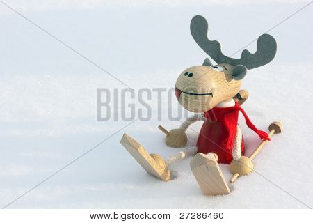 Christmas Deer In Snow