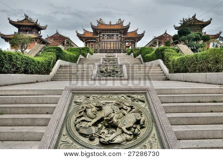 Chinese traditional temple, Buddhism, Taoism building in Macao, China.