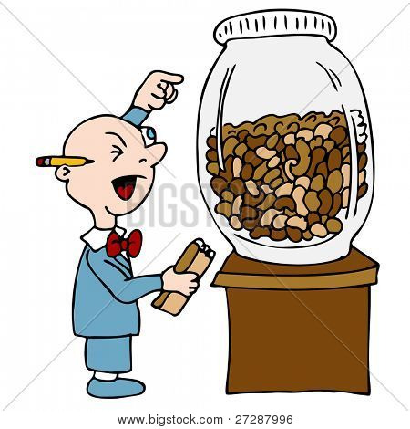An image of a bean counting accountant.