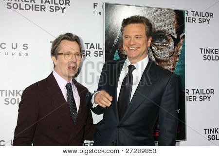 LOS ANGELES - DEC 6:  Gary Oldman, Colin Firth arrives at the