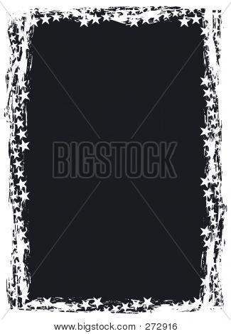 Grunge Star Background (frame Border)