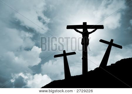 Jesus Christ Crucified In Golgotha