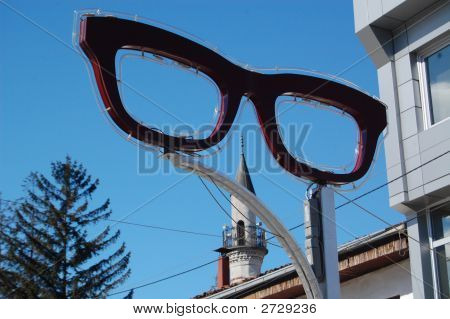 Glasses And Mosque