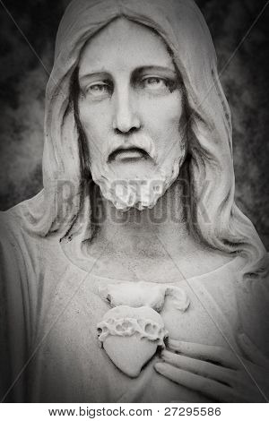 White marble head of Jesus Christ