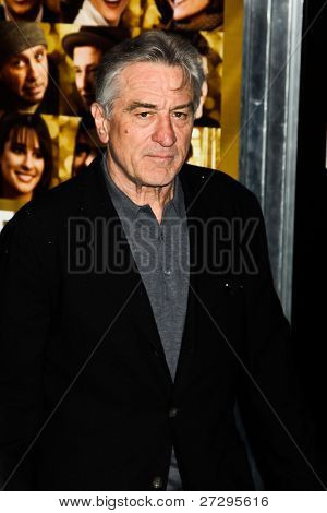NEW YORK  - DECEMBER 07: Robert De Niro poses for a photo during the 'New Year's Eve' premiere at Ziegfeld Theatre on December 7, 2011 in New York City.
