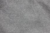 Grey Texture Background Of Seamless Empty Denim Fabric, Close Up Top View. Blank Gray Jean Fabric Ba poster