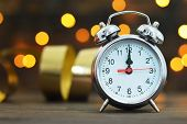 Midnight Clock. Happy New Year poster