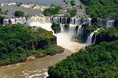 Aerial View Of Iguazu Falls, One Of The New 7 Wonders Of Nature, In Brazil And Argentina poster