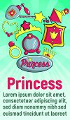Princess Concept Banner. Cartoon Banner Of Princess Vector Concept For Web, Giftcard And Postcard poster