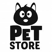 Cat Pet Store Logo. Simple Illustration Of Cat Pet Store Vector Logo For Web Design Isolated On Whit poster