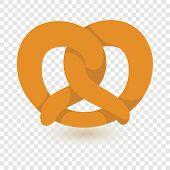 Soft Pretzel Icon. Flat Illustration Of Soft Pretzel Vector Icon For Web Design poster