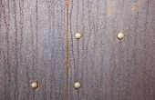 Rusty Metal Background With Rivets For Design poster