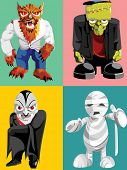 picture of frankenstein  - four classic halloween monsters - JPG