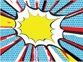 image of pop art  - Pop art or comic book style explosion - JPG