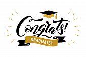 Congrats Graduates Class Of 2019 Graduation Congratulation Party poster