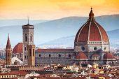 Постер, плакат: Собор Санта Мария дель Фьоре во Флоренции Италия
