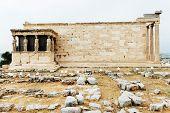 Greece, Athens, Acropolys. Caryatids of the erechtheum, Porch of the Caryatids poster