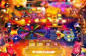 Abstract pinball background