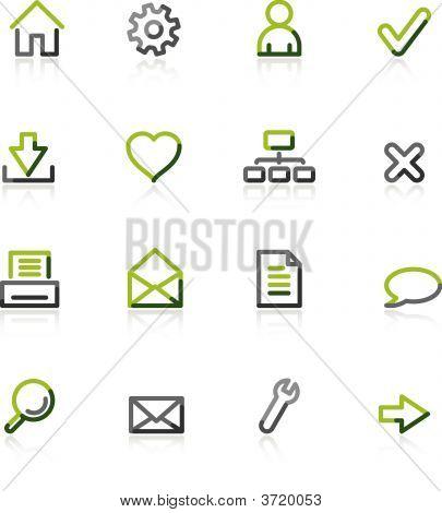 Iconos de la Web de verde-gris