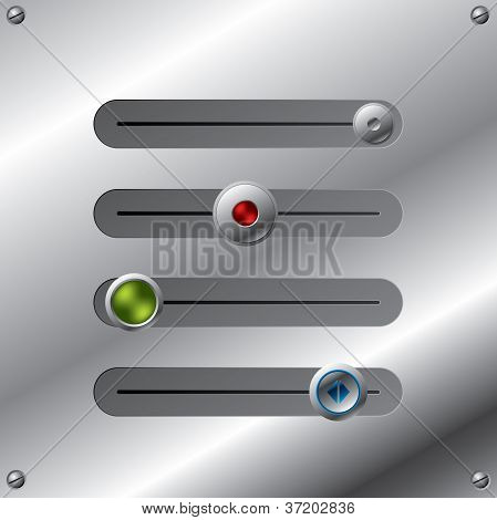 Slideable Button Set