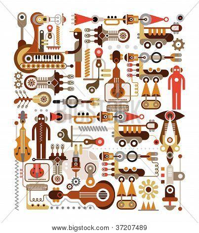 Fabricación de instrumentos musicales