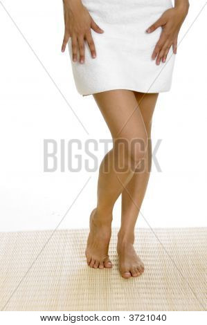 Legs Of White Woman