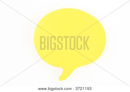 Speech Bubble Note
