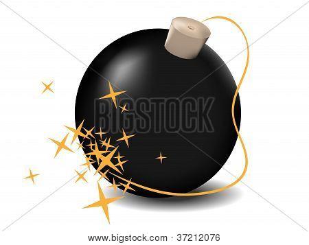 vector black bomb
