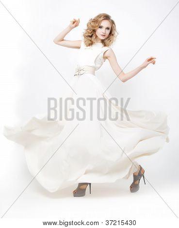 Lovely Active Fashion Model Girl Posing