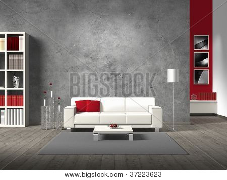 fictitious modern living room